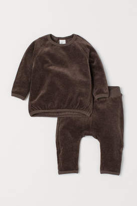 H&M Velour top and trousers
