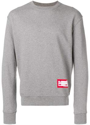 Ami Alexandre Mattiussi Sweatshirt With Patch Name Tag