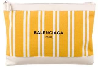Balenciaga Bazar Leather Clutch