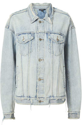 Ksubi Chillz Oversized Ripped Denim Jacket