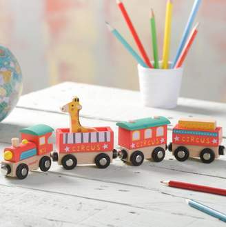 TheLittleBoysRoom Wooden Circus Train Toy And Personalised Track