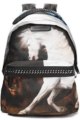 Stella McCartney Printed Shell And Faux Leather Backpack