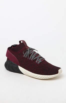 adidas Tubular Doom Sock Primeknit Black & Burgundy Shoes