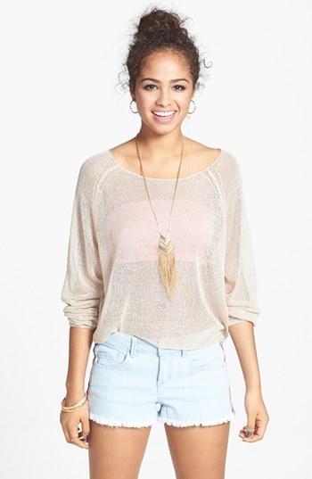 BP 'Hailey' Sheer Pullover (Juniors)