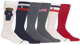 Polo Ralph Lauren Men 6-Pk. Denim Bear Socks