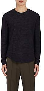 Vince MEN'S DOUBLE-FACED COTTON-WOOL T-SHIRT - NAVY SIZE S