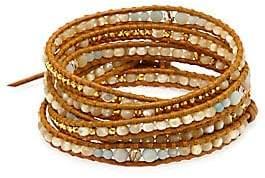 Chan Luu Women's Mixed Bead Wrap Bracelet