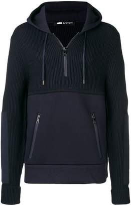 Neil Barrett ribbed hooded sweatshirt