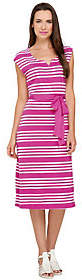 Liz Claiborne New York Petite Stripe Print KnitDress