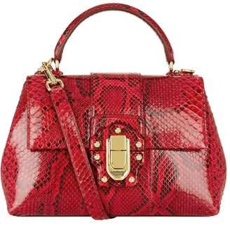 Dolce & Gabbana Lucia Python Top Handle Bag