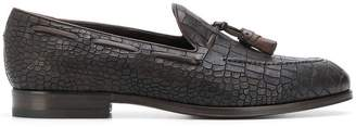 Tagliatore snake-effect loafers