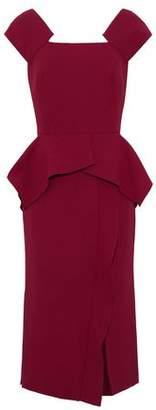 Roland Mouret Sawleigh Ruffled Wool-Crepe Peplum Dress