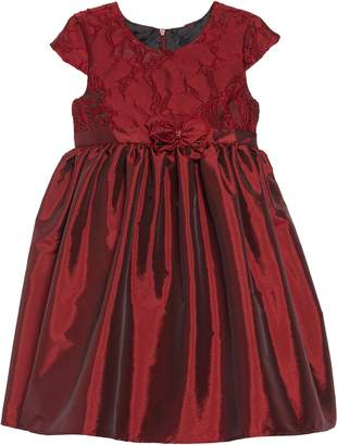 Chloé Isobella & Ruby Spice Lace & Taffeta Dress