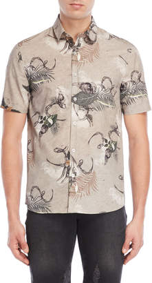 Bolongaro Trevor Grey Printed Shirt