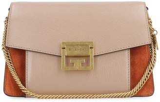 Givenchy Gv3 Small Suede And Leather Bag