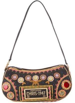 Christian Dior Embroidered Montaigne Chris 1947 Bag