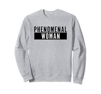 Phenomenal Woman Black Box Bold Statement Sweatshirt