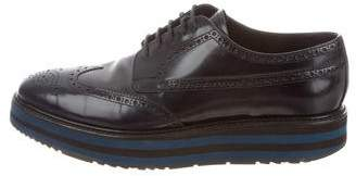 Prada Leather Brogues Derby Shoes