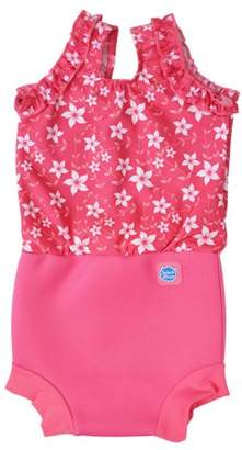Splash About International Happy Nappy Diaper Swimsuit Pink Blossom X Large 12-24 Months