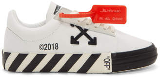 Off-White Off White White Striped Vulcanized Sneakers