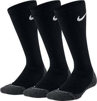 Nike Boys 3-Pack Dri-FIT Crew Socks