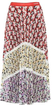 Valentino Pleated floral midi skirt
