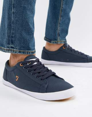 Farah Brucey Canvas Sneakers in Navy