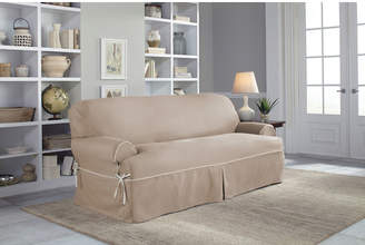 ... Serta Twill T Cushion Sofa Slipcover