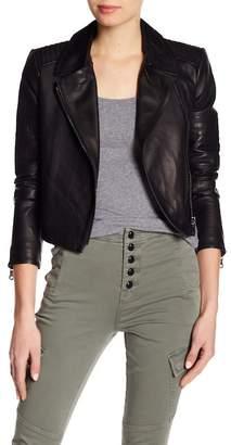 J Brand Aiah Lamb Leather Jacket