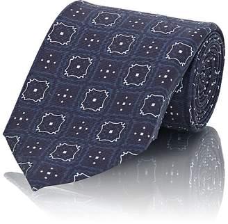 Fairfax Men's Medallion-Print Silk Twill Necktie