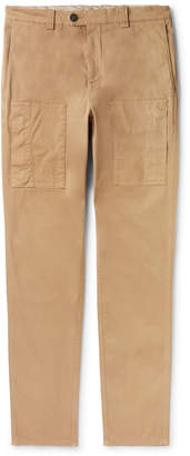 Brunello Cucinelli Slim-Fit Garment-Dyed Stretch-Cotton Cargo Trousers - Men - Brown