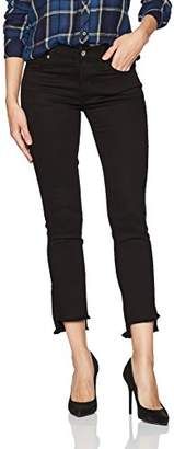 James Jeans Women's Straight Leg Jean with Hi Lo Hem