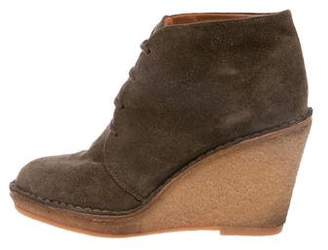 Marc by Marc Jacobs Suede Pointed-Toe Wedges