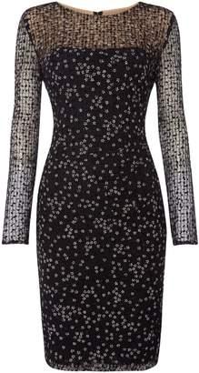 Lauren Ralph Lauren Long sleeve mesh detail dress