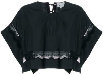 3.1 Phillip Lim cropped lace-hem top
