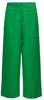 Jil Sander Gaston Virgin Wool Twill Cropped Trousers - Womens - Green