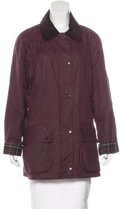 Barbour Coated Long Sleeve Jacket $175 thestylecure.com