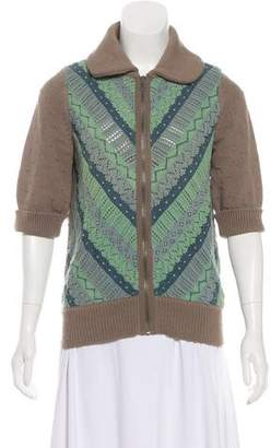 Marc by Marc Jacobs Zip-Up Short Sleeve Cardigan