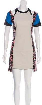 Rebecca Minkoff Leather-Trimmed Abby Dress