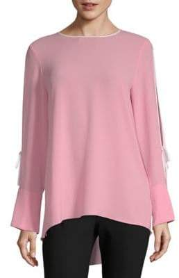 Vince Camuto Split-Sleeve Hi-Lo Top