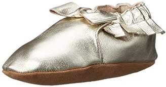 Robeez Girls' Premium Leather Moccasins Crib Shoe