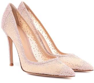 Rania crystal-embellished pumps