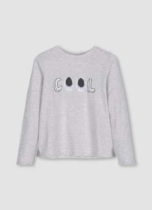 Mint Velvet Grey Flippy Sequin T-Shirt