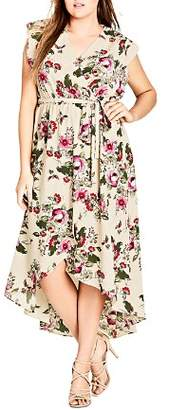 City Chic Plus Lolita Floral High/Low Dress