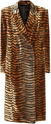 ATTICO The Tiger-print velvet coat