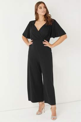 Scarlett & Jo Womens Wrap Lounge Jumpsuit - Black
