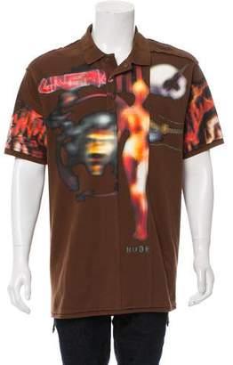 Givenchy 2016 Heavy Metal Print Polo Shirt