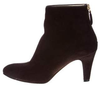 Brian Atwood Suede pointed-Toe Ankle Booties