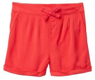 Joe Fresh Solid Rayon Shorts (Little Girls)