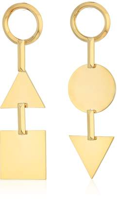 Eddie Borgo Mismatched Token Drop Earrings